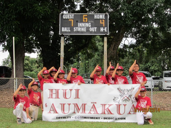 Pictured from Left to Right in team photo: Keamalu Baclig, Carson Kawaguchi, Mason Hirata, Devin Saltiban, Spencer Yoshizumi, Keahi Hisashima, Dante Medeiros, Brock Malani, Kedren Kinzie, Makakoa Auwae and Aiden Shikuma.